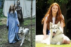 Game of Thrones star Sophie Turner (aka Sansa Stark) adopted her direwolf in real life, and they're pretty much the most adorable thing in Westeros — and on Earth.