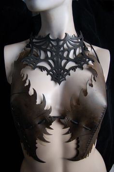 spider web collar made from recycled salvage inner tube rubber. by Midnightzodiac on etsy