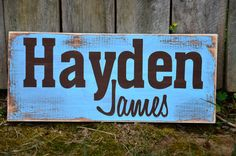 Baby Name Sign Custom-Toddler-Gift-Children-Decor-Art on Etsy, $20.99
