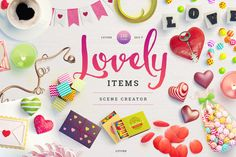 Lovely Items Scene Creator by LStore on Creative Market