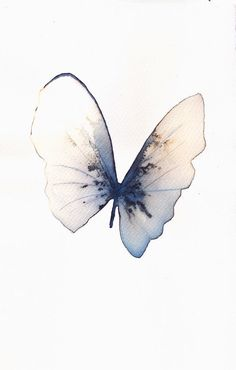 pale blue grey and white gold butterfly original by AMOMA on Etsy, £35.00