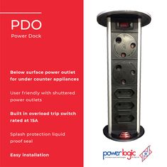 The Powerdock Mk1 is the perfect kitchen power solution. The PDO Mk1 is generally used in the kitchen however can be used in the following locations: 🔌Home office 🔌Dressing tables 🔌Garage work stations 🔌TV cabinets  Features:  🔌Below surface power outlet for under counter appliances 🔌User friendly with shuttered power outlets 🔌3 x 3pin 🔌3 x 2pin 🔌Built in overload trip switch rated at 15A 🔌Splash protection liquid proof seal 🔌Easy installation