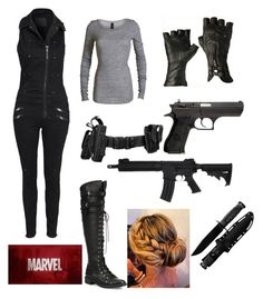 """Marvel"" by mrs-panarin ❤ liked on Polyvore featuring Diesel, Joie and Cold Steel"