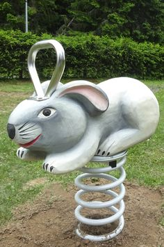 Grey rabbit - robinia spring swing
