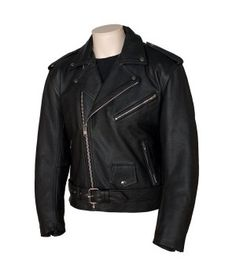 Men's Leather Basic MC Jacket