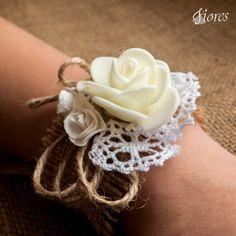 Náramky pre družičky v1-1 Wedding Flowers, Weddings, Bracelets, Jewelry, Jewlery, Jewerly, Wedding, Schmuck, Jewels