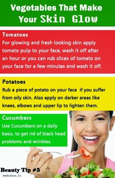 Vegetables that make your skin glow..... Daily Useful Hacks for Health and Beauty Care ~ medikare