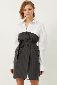 Jenia Shirt Skirt Set Discover the latest fashion trends online at storets.com