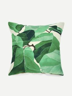 SheIn offers Leaf Print Pillowcase Cover & more to fit your fashionable needs. Leaf Prints, Decorative Pillows, Pillow Cases, Leaves, Throw Pillows, Fit, Cover, Shop, House