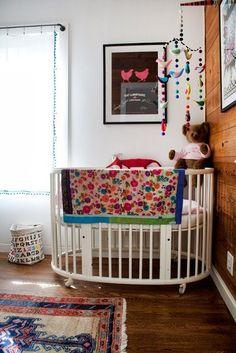 Bohemian Nursery. Love this mobile.
