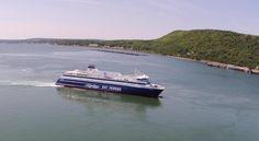 Enjoy a three-hour cruise across the Bay of Fundy between Saint John, New Brunswick and Digby, Nova Scotia with Bay Ferries. New Brunswick, Nova Scotia, Places Ive Been, Sailing, Cruise, Saints, Saint John, Boat, Island