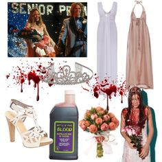 """Carrie"" Halloween Costume by hollyanne on Polyvore featuring art, halloween costume and halloween"