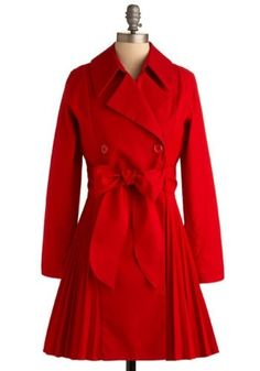 need to have this coat!  I love red coats! by sharonsparkles