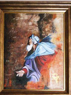 """""""La main de Dieu"""" peinture mixte à l'huile"""