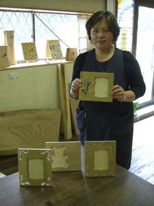 2008年6月27日 みんなの作品【額・鏡・壁飾り】 大阪の木工教室arbre(アルブル)