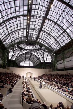 chanel fashion show in the grand palais