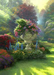 The Garden of Hope - Thomas Kinkade - World-Wide-Art.com