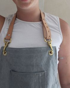 Butchers apron - made to order canvas leather solid brass www.this-lil-piggyy.myshopify.com www.instagram.com/thislilpiggyy