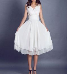 Love the straps!! and the waist... ooo am I being convinced towards a shorter dress?!  custom wedding bridemaids dress 0099 by xiaolizi on Etsy, $78.00