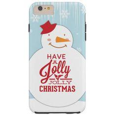 Jolly Christmas Snowman Tough iPhone 6 Plus Case  http://www.zazzle.com/jolly_christmas_snowman_tough_iphone_6_plus_case-179652042026569343?rf=238054403704815742