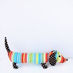 Childrens Stuffed Toy Wiener Dog Plush by FriendsOfSocktopus Pet Toys, Kids Toys, Dachshund Love, Daschund, Weenie Dogs, Creation Couture, Softies, Wool Felt, Gifts For Kids