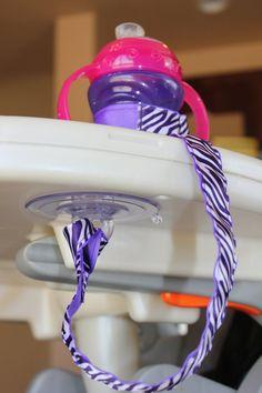 Purple/White Zebra Sippy Strap by ChunksBabyJunk, $9.00