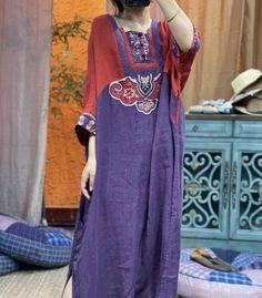 Womens linen long dress, linen kaftan, Summer dresses, retro dresses, Prom dress Purple Rose, Pink, I Feel Free, Linen Dresses, Shoulder Sleeve, Kaftan, Red Roses, Bleach, Dresser