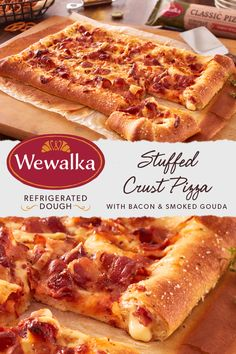 Baking at home is delicious and enjoyable with Wewalka refrigerated pizza dough. Try this Stuffed Crust Pizza with Bacon and Smoked Gouda to please the whole family or one of hundreds of other recipes on our website. Pizza Recipes, Appetizer Recipes, Cooking Recipes, Stromboli, Calzone, Crust Pizza, Pizza Dough, Pizza Pizza, Cake Candy