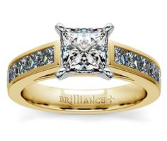 Princess Channel Diamond Engagement Ring in Yellow Gold http://www.brilliance.com/engagement-rings/princess-channel-diamond-ring-yellow-gold-1-ctw