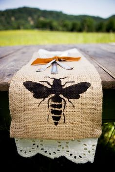 totally doing this I have tons of burlap!