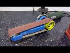 Mini Belt Sander Angle Grinder Attachment / Mini szlifierka taśmowa z kątówki Cool Tools, Diy Tools, Diy Belt Sander, Angle Grinder Stand, Metal Bending Tools, Interlocking Bricks, Diy Belts, Belt Grinder, Garage Tools