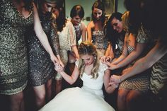 OH MY GOODNESS. every bridesmaid is wearing SEQUINS. a wedding after my own heart. ahhhhh.