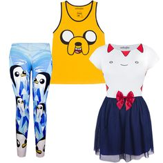 What time is it?! Time for NEW Adventure Time awesomeness + the return of some faves!  Our Gunter-themed leggings are at last back in stock! Plus, we've got the simply incredible NEW Peppermint Butler tulle dress, and a nifty mens' Jake Face tank, too!: http://www.welovefine.com/featured/91-we-love-halloween-character-dress-up-ideas-for-the-holiday  Be Animated with these and more amazing items in our Celebrate Halloween category - get into character!