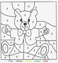 Color by Number Printable - have students roll a die and color in one block for the number they rolled to help them with number rec/counting the dots on the die