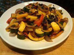 Grilled Vegetable Salad (w/ cider vinegar)