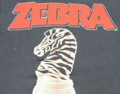 """Say what you will about the album No Tellin' Lies- it had the greatest Zebra track ever- """"Bears. Vintage Rock T Shirts, Zebras, Classic Rock, Art Music, Concerts, Rock N Roll, Tours, Metal, Clothing"""