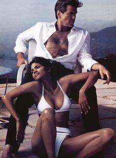 Pierce Brosnan & Halle Berry in Vogue, December 2002