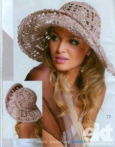 #413 Sombrero a Crochet o Ganchillo