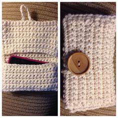 Handmade crochet phone case money/card holder by SixStuff on Etsy, $20.00