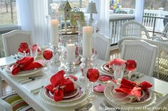 Between Naps on the Porch | Valentine's Day Table Setting: Candlelit and Romantic | http://betweennapsontheporch.net
