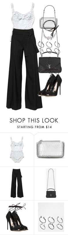 """Untitled #2201"" by eleanorwearsthat ❤ liked on Polyvore featuring STELLA McCARTNEY, A.F. Vandevorst, Yves Saint Laurent, Miu Miu, ASOS and Fallon"