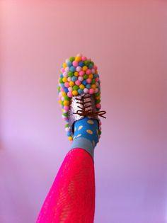 """limecrime: """"POM POM SHOES!! www.lavenderandjellybeans.blogspot.com.au """""""