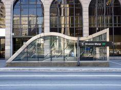 Brazilian Financial Center and subway entrance at Paulista Avenue, São Paulo, Brazil