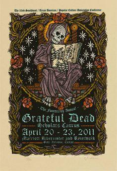 DESIGNER:  Gary Houston    Designer Posters  VENUE:  Marriott Rivercenter And Riverwalk  San Antonio  TX  USA       BANDS:  Grateful Dead