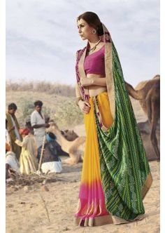 plusieurs georgette de couleur, viscose saree, - 94,00 €, #Robeindienne #Sariindien #Saripascher #Shopkund