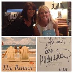 NY Times bestselling author Elin Hilderbrand signs The Rumor!