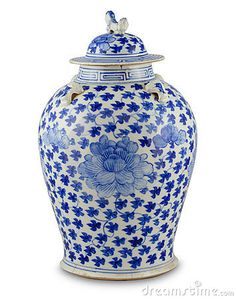 Photo about Chinese antique vase on the plain back ground. Blue And White China, Love Blue, Blue China, New Blue, Chinoiserie, Himmelblau, Ginger Jars, Chinese Antiques, White Decor