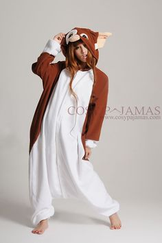 Animal Costumes Gizmo the Gremlin Onesie Kigurumi Pajama For Adult
