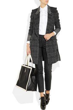 Yves Saint Laurent - Tweed longline coat