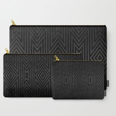 Charcoal Gray on Black Tribal Carry-All Pouch Sizes S-M-L with regular prices ranging from $14 - $24. Get all three pouches for $40 USD and save $16.